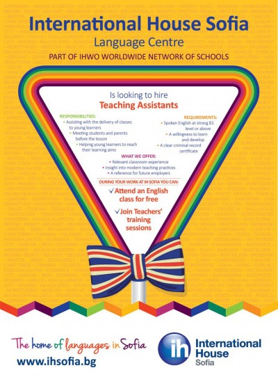 IH Sofia is looking to hire Teaching Assistants