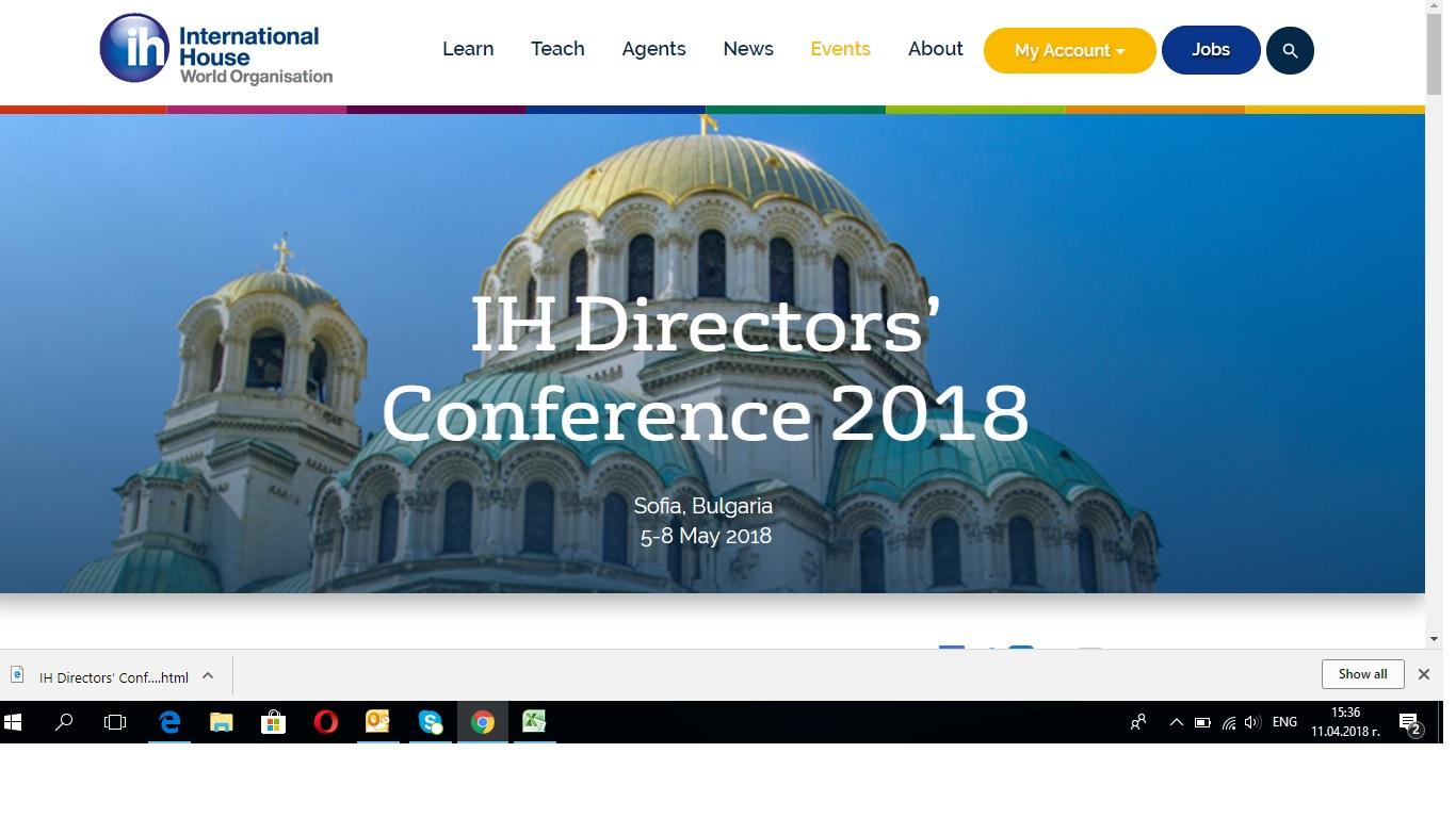 Directors' conference in Sofia